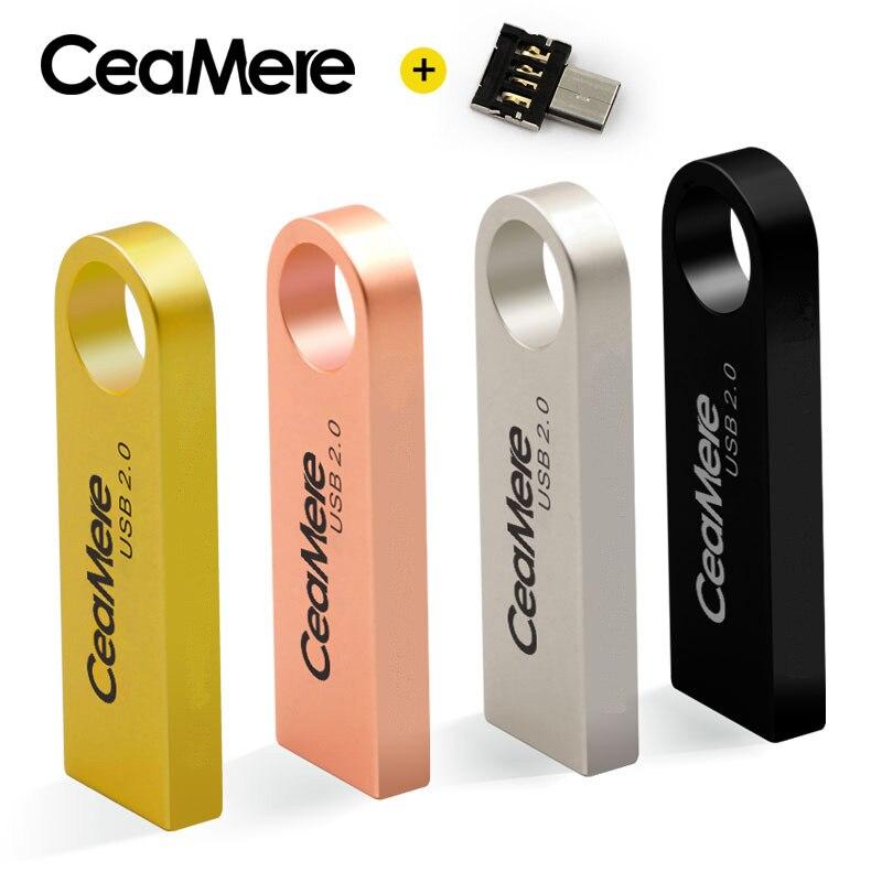 Lecteur Flash USB CeaMere C3 8 GB/16 GB/32 GB/64 GB lecteur de stylo clé USB 2.0 lecteur Flash clé USB disque 512MB 256MB gratuit OTG