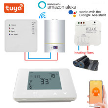 TUYA Smart Gas Boiler Wireless WIFI RF Thermostat and 6 Sub-Chamber Hub Controller Central  for Floor Heating Cable/ Heat Mat
