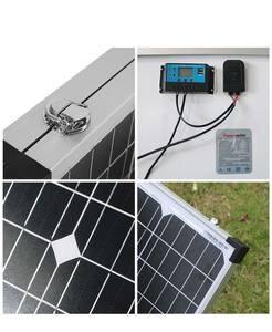 Image 4 - Dokio 200w (2 pces x 100w) painel solar dobrável china + 10a 12v/24v controlador dobrável painel solar pilha/sistema carregador painel solar
