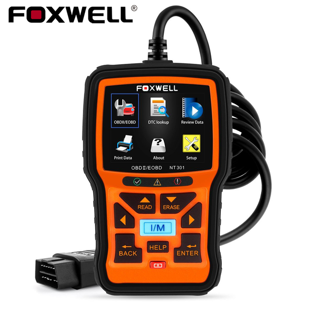 FOXWELL NT301 OBD2 Scanner Check Engine Light Code Reader Professional EOBD ODB2 OBD 2 Automotive Scanner Car Diagnostic Tool 1