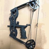 1 set of archery 40 pound pulley composite bow for left / right hand, with laser sight for hunting and shooting fish bows 2020