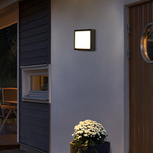 Square Led Radar Motion Sensor Outdoor Wall Light Light Control 10W Ip65 Waterproof Wall Lamp Sconce 3 Light Color Changeable