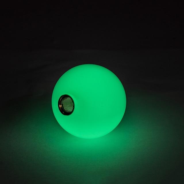 Universel Voiture Vert/Bleu/Rouge Lueur Dans Le Noir Pommeau de levier de vitesses Manuel/Automatique à Courte Focale De Manette De Vitesse avec Adaptateur