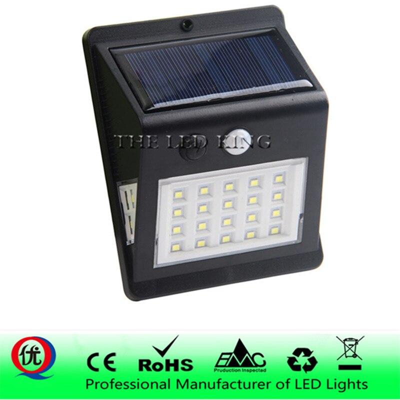 Luz solar à prova d'água, 40 30 20leds pir detector de movimento porta parede luz externa led painel solar lâmpada de segurança ponto iluminação com iluminação