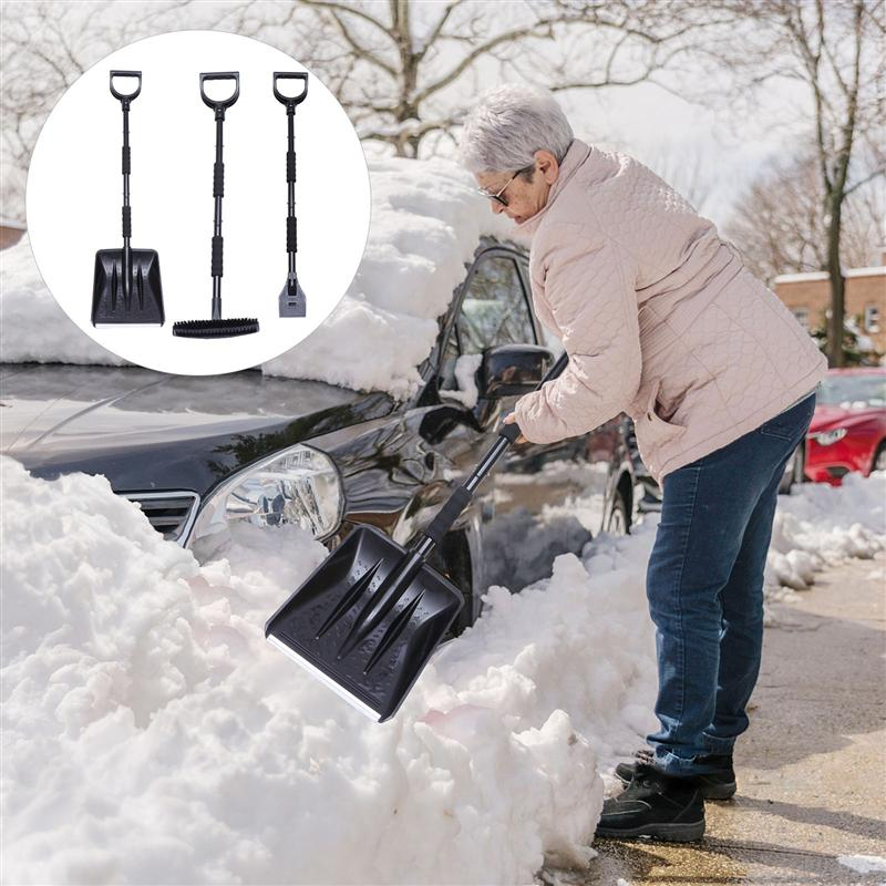 1 Set Detachable Snow Remover Auto Ergonomic Car Snow Shovel Removal Tools Ice Scraper Snow Brush