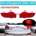6351HA 6350HA 1 пара для Peugeot 206 207 заднего бампера светильник хвостовые Фары противотуманные лампы с отражателем