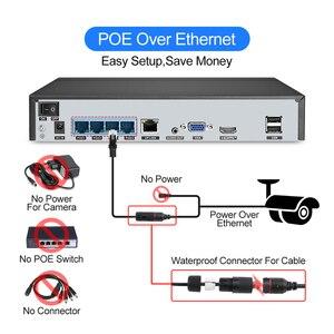 Image 2 - Techage sistema de vigilancia de NVR POE al aire libre, Kit de 4 canales, 5MP, cámara IP IA, cuerpo de Audio bidireccional, detección humana, Vídeo impermeable