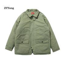 Парка мужская хлопковая Теплая стеганая куртка в японском стиле