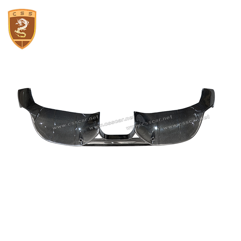 Carbon Fiber Rear Lip Diffuser Spoiler fit for Porsche <font><b>718</b></font> Cayman <font><b>Boxster</b></font> Base S Coupe 2017 2018 Car Bumper Guard DP Style image