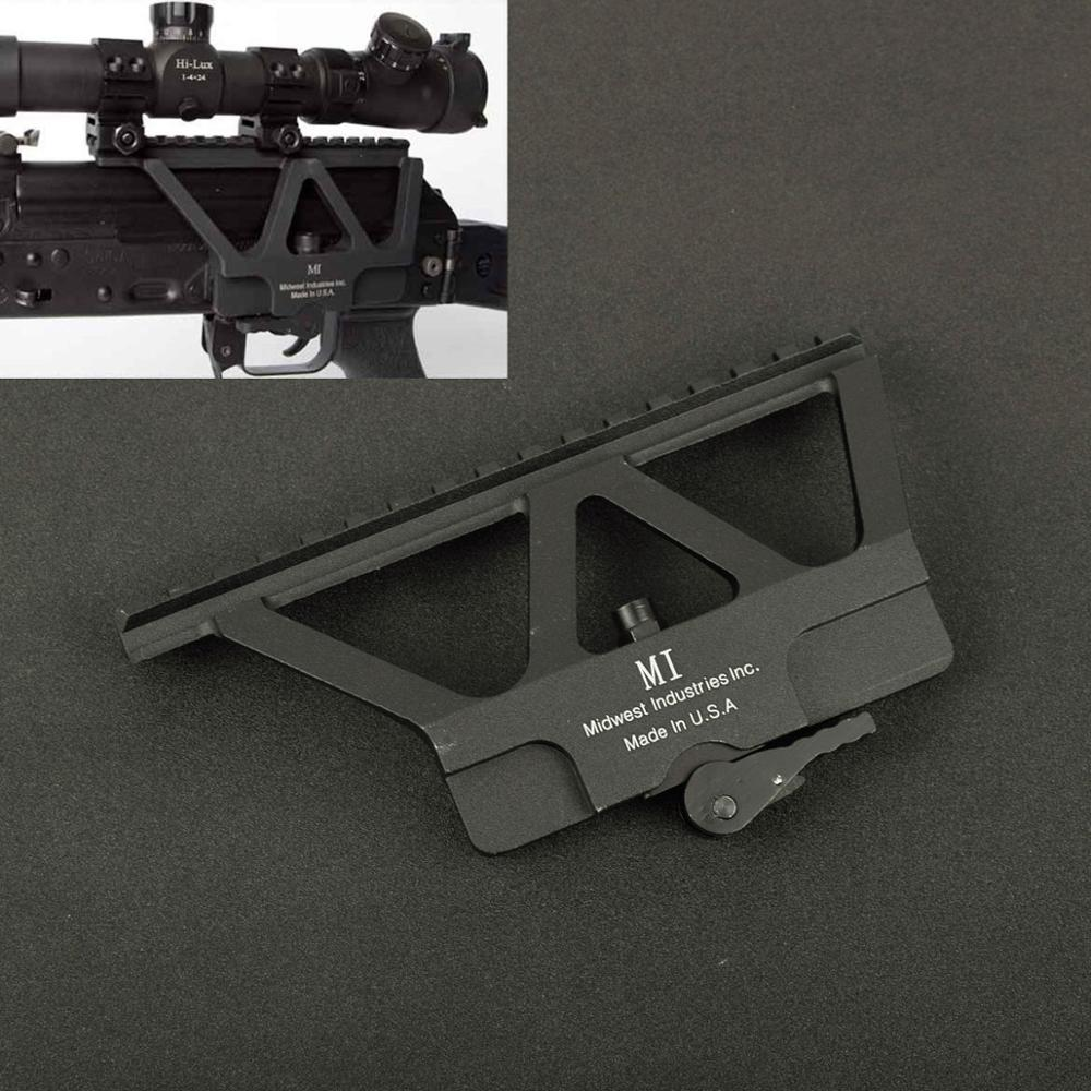 Tactical CNC Quick Detach AK Side Rail Red Dot Scope Mount For AK 47 AK 74 Hunting Airsoft Rifle Gun Accessories Base Picatinny