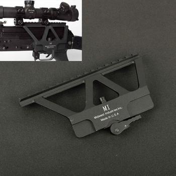 Tactical CNC Quick Detach AK Side Rail Red Dot Scope Mount For AK 47 AK 74 Hunting Airsoft Rifle Gun Accessories Base Picatinny