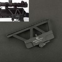 Tactical cnc rápido destacam ak trilho lateral red dot scope montagem para ak 47 ak 74 caça airsoft rifle arma acessórios base picatinny Acessórios e suporte de extensão     -