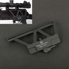 戦術的な cnc クイックデタッチ ak サイドレールレッドドットスコープマウント ak 47 ak 74 狩猟エアガンライフル銃アクセサリーベースピカティニー
