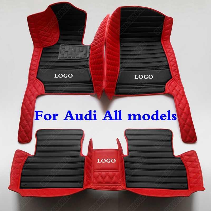 3Dรถชั้นเท้าสำหรับAudi A1 A2 A3 A4 A5 A6 A7 A8 Q3 Q5 Q7 Q8 S4 s5 S8 RS TT Quattro All WeatherหนังAuto-Coverพรม