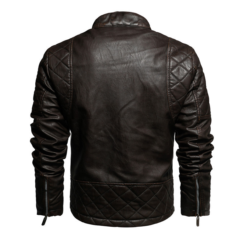 Mountainskin 2020 New Leather Jacket Men Winter Fleece Casual Motorcycle Jackets Autumn Male PU Coat Mens Brand Clothing SA826 4