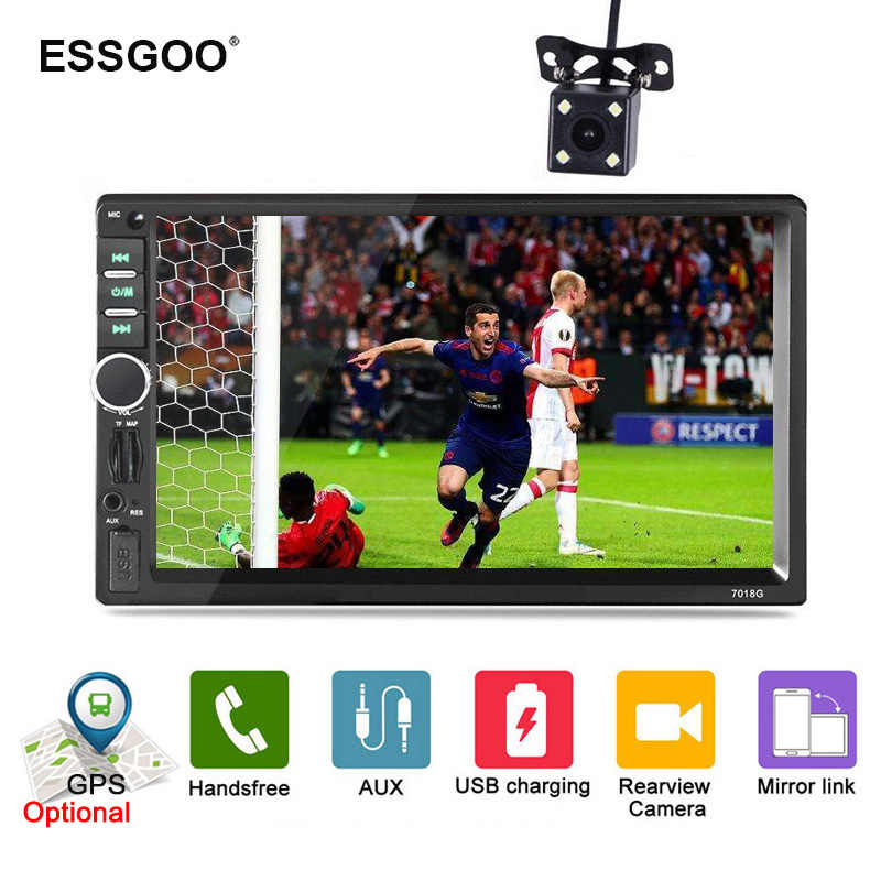 "Essgoo 7"" Car Radio 2 DIN Bluetooth Multimidia Autoradio Car Stereo Audio Gps Navigation Optional AUX FM Phone USB Charging Mp5"