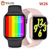 2021 IWO W26 Smart Uhr Männer Frauen Serie 6 Bluetooth Anruf Blutdruck Monitor Smartwatch Smart Uhr für Apple Android telefon