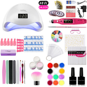 Yao маникюрный набор для ногтей, 48 Вт/80 Вт, СВЕТОДИОДНЫЙ УФ-светильник, электрическая дрель для ногтей, маникюрный набор, инструменты для диза...