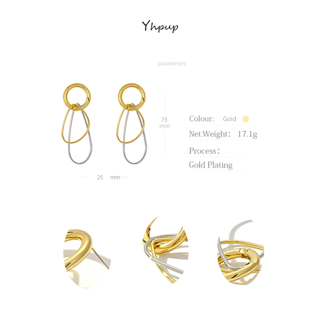 Yhpup Personality Round Geometric Dangle Earrings Minimalist Statement Charm Metal Earrings for Female Office Jewelry Bijoux.jpg 640x640 - Yhpup Personality Round Geometric Dangle Earrings Minimalist Statement Charm Metal Earrings for Female Office Jewelry Bijoux New
