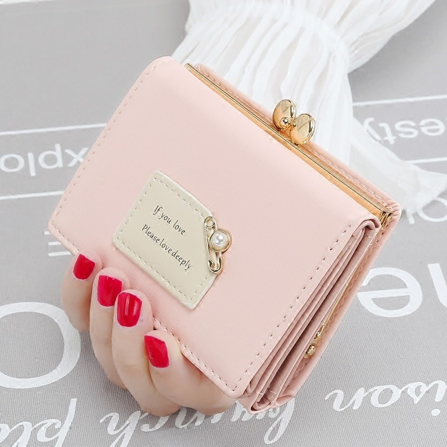 Cute Multi-function Mini Wallet Fashion Letter Print Ladies Wallets Simple Student Short Purse Card Money Thin Small Holders New