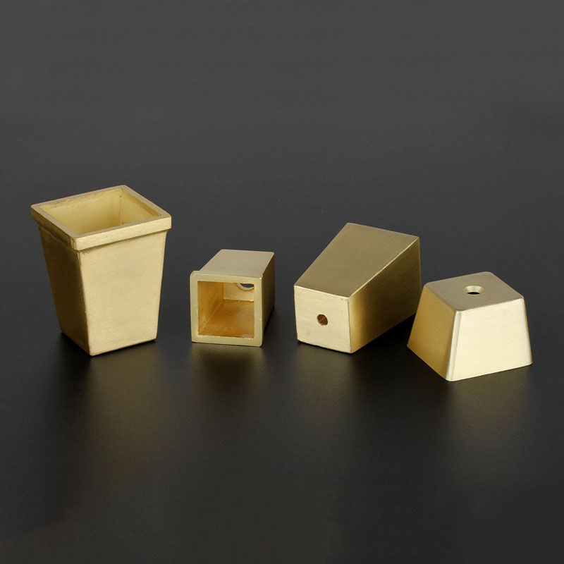 4pcs/lot Gold Table Leg Covers Square Chair Leg Cups Sofa Feet Protector Furniture Leg Caps