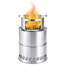 Winter Heating Stove Outdoor Wooden Stove Stainless Steel Camping Stove Home Bonfire Fire Pit Firewood Stove Portable Grill