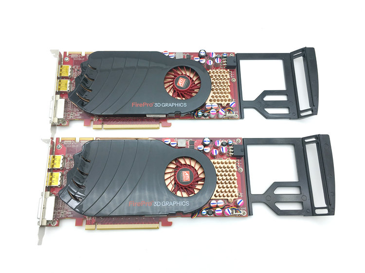 Original FirePro V7750 1GB Professional Graphics Card Medical Graphics Support 10-bit Display