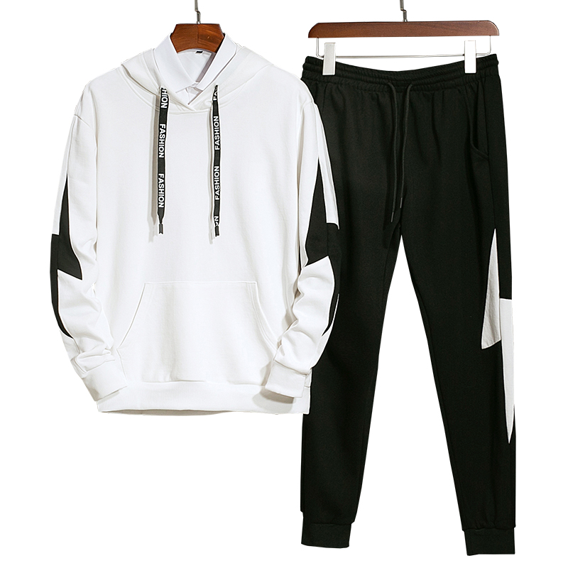 Men Tracksuit Hoodies Set 2020 New Casual Sporting Suit Spring Male Solid Fitness Sweatshirts+Pants Two Piece Jogger Sets Gym