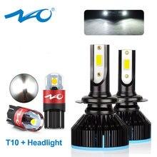 NAO H7 H4 H11 Светодиодный противотуманный фонарь H1 Автомобильная мини лампа для фар HB4 HB3 H8 W5W 12V 50W 9006 9005 H9 HB2 Turbo освещение для бега