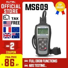 Autel maxiscan ms609 obd2 scanner leitor de código com completa obd2 funções abs diagnóstico dtc definições avançado de ms509 & al519