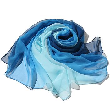 21 kolorów Gradient modny szalik szyfonowy damskie długie szale do opatulania się i szale Lady wiosna jesienne szale chustka hidżab etole 160x50cm tanie i dobre opinie TECHOME WOMEN Dla osób dorosłych Z szyfonu CN (pochodzenie) Szalik szal Stałe moda 135 cm-175 cm Szaliki Gradient scarf-2033-1