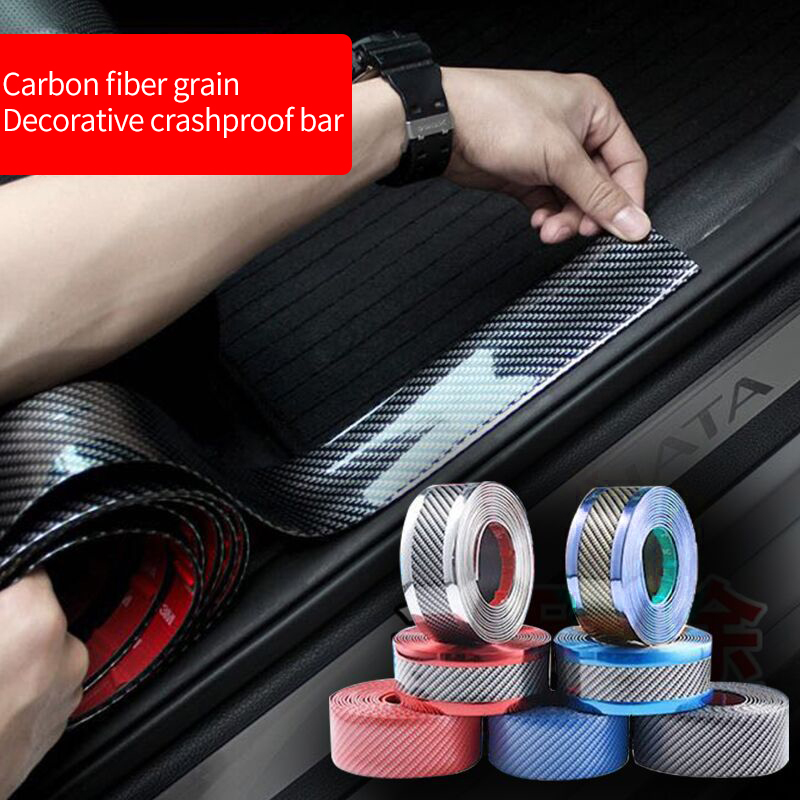 Protection Carbon Fiber Sticker 3D Carbon Fiber Vinyl Multiple Color Wrap Sheet Roll Film Car Sticker Motorcycle Car Styling