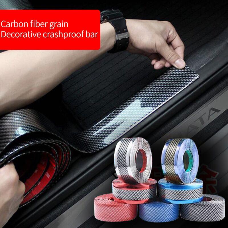 Pegatina de fibra de carbono de protección vinilo 3D de fibra de carbono lámina de envoltura de Color múltiple rollo de película Calcomanía para auto, estilismo para automóvil de motocicleta