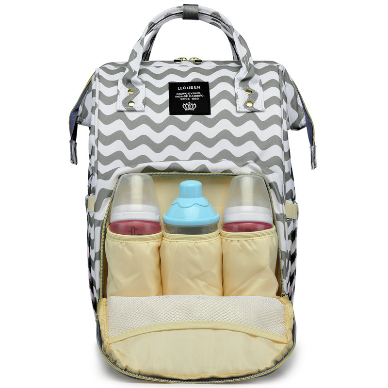 Waves Print Diaper Bag Women's Handbag Multifunction Diaper Bag Backpack Large Capacity Mommy Bag Pregnant Nursing Bag Baby Care