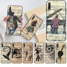 NBDRUICAI Music Violin dance piano papaer black Phone Case Cover Hull for Huawei Honor 20 10 9 8 8x 8c 9x 7c 7a Lite view pro(China)