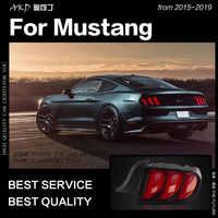 Estilo de coche para Ford Mustang luces de cola 2015-2019 señal dinámica lámpara de cola LED Faro de cola DRL freno reverso auto Accesorios