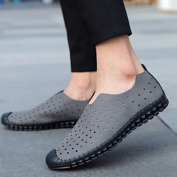Casual Leather Shoes For Man Spring Autumn Breathable Flats Shoes Men Loafers Comfortable Light Slip On Shoes Round Toe Loafers