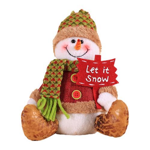 Хит, 30 стилей, рождественские украшения для дома, Рождественские куклы, елочные украшения, инновационная декорация с лосем, Сантой, снеговиком - Цвет: J 20x15cm