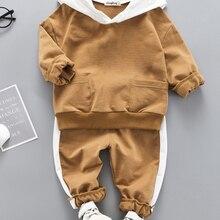 LZH Toddler Girls Clothes Autumn Spring Kids Boys Clothes Top+Pant 2pcs Outfit Suit Children
