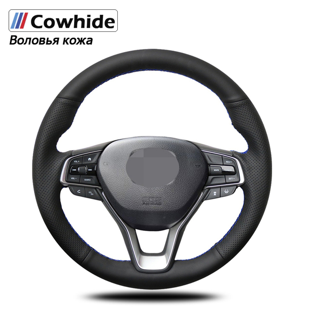 Handsewing Black Genuine Leather Steering Wheel Covers For Honda Accord 10 2018 2019 Insight 2019