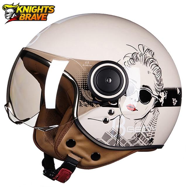 Motorrad Helm Chopper 3/4 Open Gesicht Vintage Moto Helm Moto Casque Casco Capacete Männer Frauen Roller Motorrad Helm