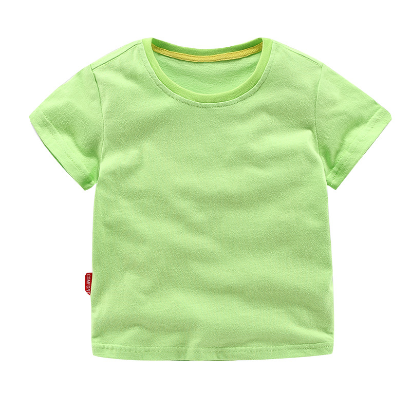 Summer Kids Girls T Shirt Summer Baby Boys Cotton Tops Toddler Tees Clothes Children Clothing  T-shirts Short Sleeve