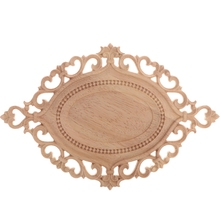 Decorative Fashion Floral Wood Carved Decal Corner Appliques Frame Wall Doors Furniture Woodcarving Wooden Figurines Crafts