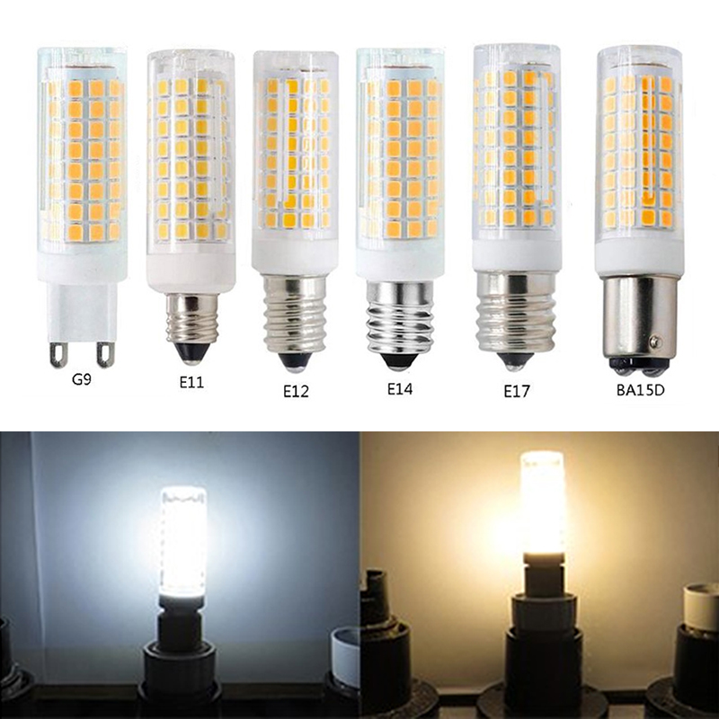 G9 E11 E12 E14 E17 BA15D LED Lamp  LED Highlight Corn Bulb 360 Beam Angle Dimming Replace Halogen Chandelier Lights 10W 110v