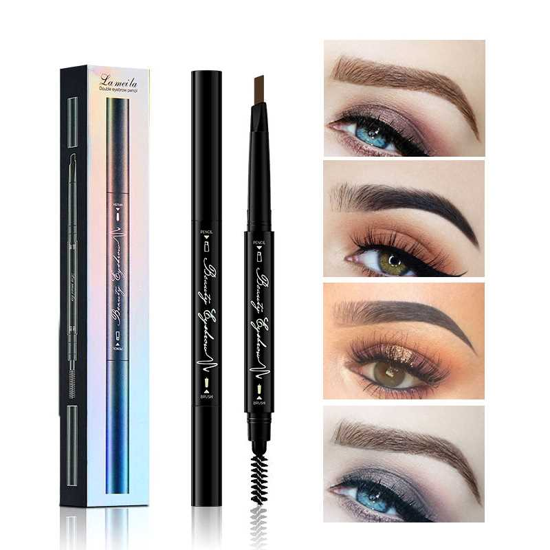 Joomer Waterproof Natural Eyebrow Paint Pen Eye Brow Tint Tattoo Pen Makeup Eyebrow Pencil With Brush Make Up Cosmetics-in Eyebrow Enhancers from Beauty & Health