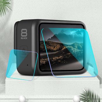 Nowe szkło ochronne hartowane dla Gopro Hero 8 czarny ekran Protector przezroczysta folia dla Gopro akcesoria do kamer sportowych tanie i dobre opinie yicoe MD 8 glass cover for gopro8 goprohero8 Action Camera Akcesoria Zestawy Pakiet 1 Silikon For Xiaomi Mijia Camera Tempered Glass