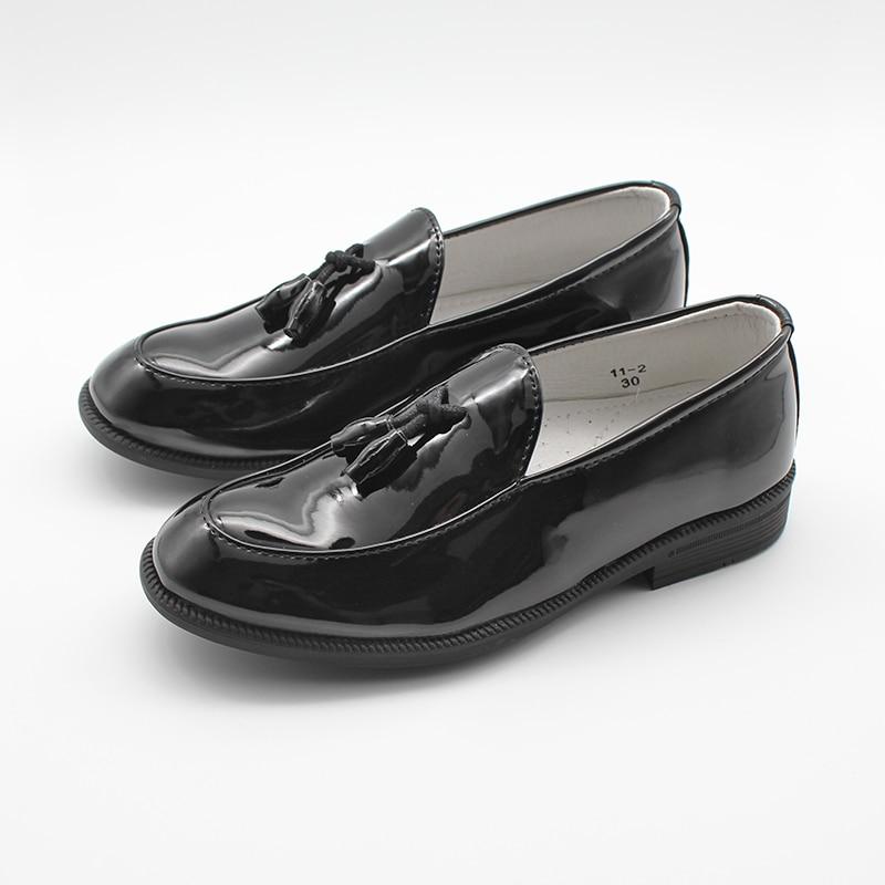 Boys Patent Faux-Leather Shoes