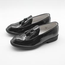 Dzieci dzieci buty dla chłopców chłopcy Slip On formalne lakierki Faux skórzane mokasyny chłopcy ubierają buty Tassel buty ślubne tanie tanio just one sight Pasuje prawda na wymiar weź swój normalny rozmiar Plac heel Children Causal Formal shoe Slip-on 2-6 years old