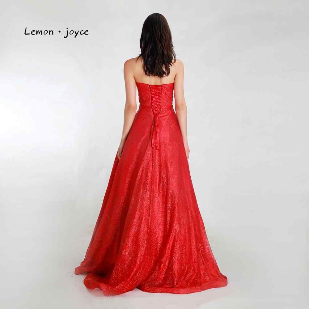 Lemon joyce элегантные платья для выпускного вечера Длинные 2020 сексуальные милые простые А-образные Вечерние платья Вечернее платье
