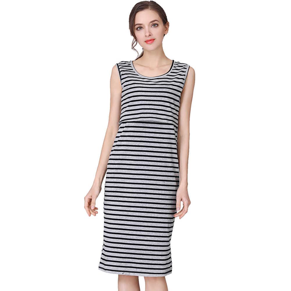 Emotion Moms/платье для беременных; стрейчевое хлопковое платье в полоску для кормящих; летняя одежда для грудного вскармливания; кружевное платье; большие размеры